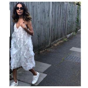 Zara fringed dress